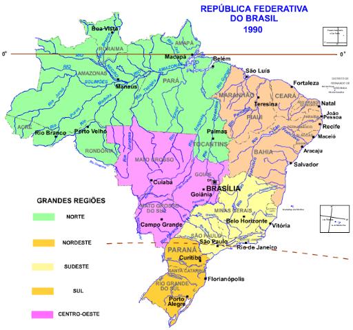 Fonte: IBGE. Adaptado. Disponível em: http://www.ibge.gov.br/home/geociencias/geografia/default_div_int.shtm.