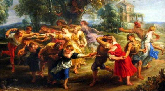 Pintura da época do Barroco traz cores vivas e fortes.
