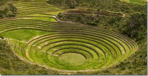 Terraceamento agrícola dos Incas.