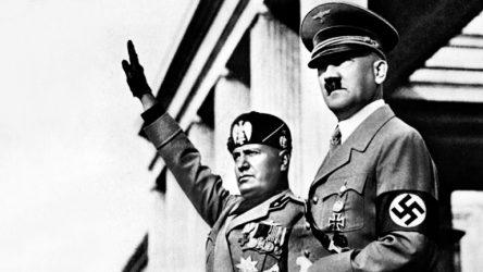 Mussolini e Hitler.