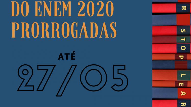 Governo prorroga prazo de inscrição para o Enem 2020